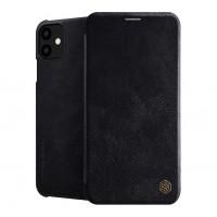 Страничен калъф тип тефтер Nillkin Qin original leather за iPhone 11 черен