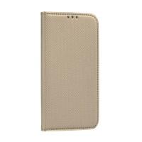 Страничен калъф тип тефтер Smart Book за Samsung A12, златен