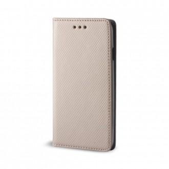 Страничен калъф тип тефтер Smart Book за Xiaomi Redmi Note 8 Pro ,златен
