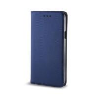 Страничен калъф тип тефтер Smart Book за Xiaomi Redmi Note 9, син