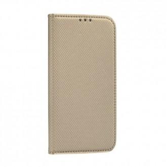 Страничен калъф тип тефтер Smart Book за Xiaomi Redmi Note 9S / 9 Pro, Златен