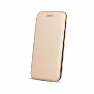 Страничен калъф тип тефтер Smart Diva за Huawei P Smart 2019 златен