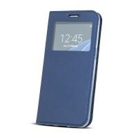Страничен калъф тип тефтер Smart Look за Huawei Y7 Prime 2018 с прозорче син