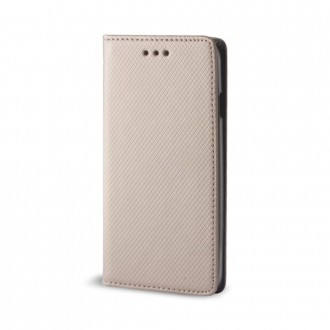 Страничен калъф тип тефтер Smart Magnet Book за Huawei Y5 2019 златен