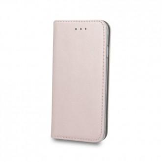 Страничен калъф тип тефтер Smart Magnetic за Samsung J3 (2016) , розово злато