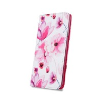 Страничен калъф тип тефтер Smart Trendy за Samsung A40 ,розови цветя