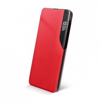 Страничен калъф тип тефтер Smart View за Samsung A12, Червен