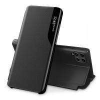 Страничен калъф тип тефтер Smart View за Samsung A22 LTE 4G, черен