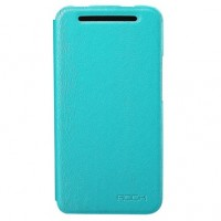 Страничен калъф тип тефтер за HTC One M7 син