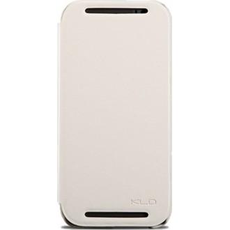 Страничен калъф тип тефтер за HTC One M8 Enland бял