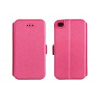 Страничен калъф тип тефтер за Huawei Honor 7 Lite / Honor 5C Book Pocket розов