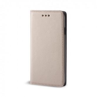 Страничен калъф тип тефтер за Huawei Honor 8 lite / P8 Lite 2017 / P9 Lite 2017 Smart Book златен