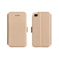 Страничен калъф тип тефтер за Huawei P8 Lite Book Pocket златен