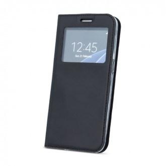 Страничен калъф тип тефтер за iPhone 5 / 5S / SE с прозорче черен
