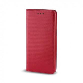 Страничен калъф тип тефтер за LG K8 (2017) Smart Book червен