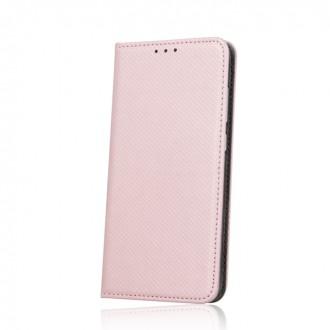 Страничен калъф тип тефтер за LG K8 (2017) Smart Book розово злато