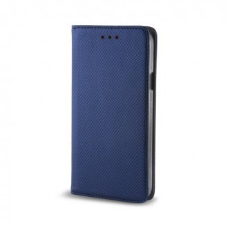 Страничен калъф тип тефтер за LG K8 (2017) Smart Book син