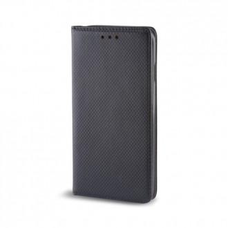 Страничен калъф тип тефтер за Moto C Smart Magnet черен