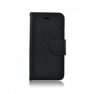 Страничен калъф тип тефтер за Moto E4 Fancy Book черен