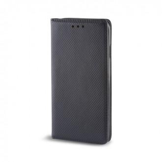 Страничен калъф тип тефтер за Moto E4 Plus Smart Magnet черен