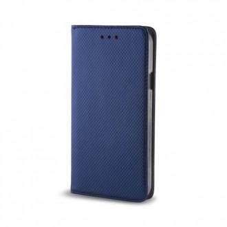 Страничен калъф тип тефтер за Moto E4 Plus Smart Magnet син