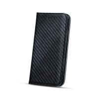 Страничен калъф тип тефтер за Nokia 6 карбон черен