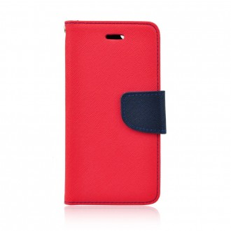 Страничен калъф тип тефтер за Nokia 6.1 / 6 2018 Fancy Book червен