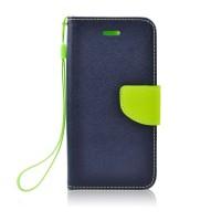 Страничен калъф тип тефтер за Nokia 6.1 / 6 2018 Fancy Book син