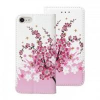 Страничен калъф тип тефтер за Samsung G960 S9, Decor Book розови цветя