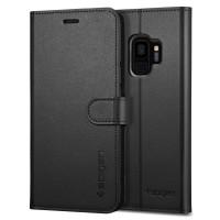 Страничен калъф тип тефтер за Samsung G960 S9 Spigen Wallet S черен