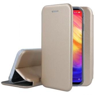 Страничен калъф тип тефтер за Samsung Galaxy A10 Elegance, златен