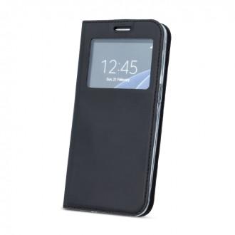 Страничен калъф тип тефтер за Samsung S7 Edge G935 , с прозорче черен