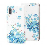 Страничен калъф тип тефтер за Страничен калъф тип тефтер за Samsung G960 S9 Decor Book-сини цветя