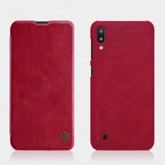 Страничен кожен калъф Nillkin Qin за iPhone XR червен