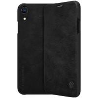 Страничен кожен калъф Nillkin Qin за iPhone XR черен