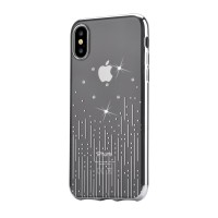 Твърд гръб кейс за iPhone X DEVIA Meteor silver