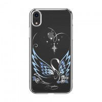 Твърд кейс Kingxbar Swan Series за iPhone XR с камъни SWAROVSKI Silver
