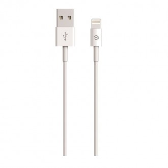 USB кабел Devia for iPhone 7 / 8 / 9 / 10 / 11 (8-pin | 2 m) бял