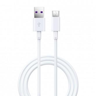USB кабел Devia Shark type-C 5A 1,5m бял