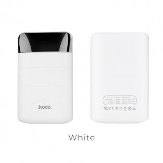 Външна преносима батерия 10000 mAh HOCO Domon B29 ,бяла