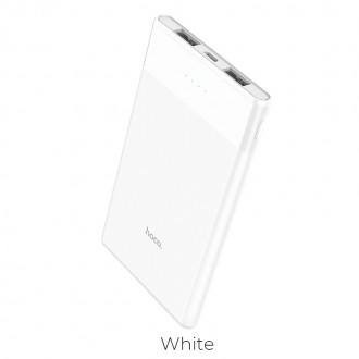 Външна преносима батерия 5000 mAh HOCO Entourage B35D ,бяла