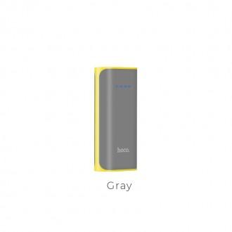 Външна преносима батерия 5200 mAh HOCO Tiny Concave B21 ,сива