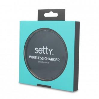 Wirless безжично зарядно Setty 1,5A черно