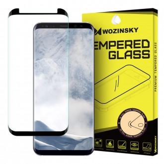 Закалено стъкло за цял екран Wozinsky 3D за Samsung G950 Galaxy S8 ,черна рамка