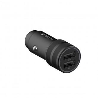 Зарядно устройство за кола DEVIA SM7 QC 3.0 , 30W, Универсално , 2 х USB, черно